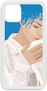 Blue Peace Girl Coque anti-guerre pour iPhone 12 Pro Max Coque pour Apple mini Blanc