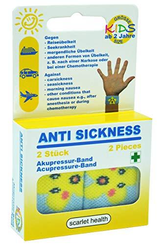 scarlet health | Akupressurband »Sea«, 1 Paar Akupressur-Armbänder gegen Übelkeit & Seekrankheit, für Erwachsene & Kinder, Anti-Übelkeitsband fürs Handgelenk, 2 elastische Bänder (Seestern)