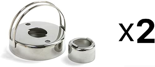 Norpro Stainless Steel Donut Biscuit Cutter with Removable Center 2 Pack