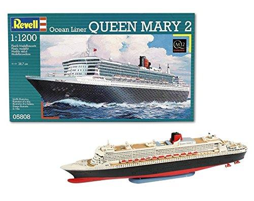 Revell Maqueta de Buque Crucero Ocean Liner Queen Mary 2, Kit de Modelo, Escala, (5808)(05808)