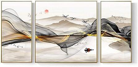 HEZHANG Nowoczesny skandynawski salon dekoracyjny obraz sofa tło wiszące obrazy ścienne abstrakcyjny mural krajobraz obraz...