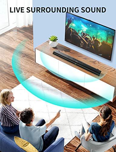 Sound Bar for TV, Soundbar with Built-in Subwoofer - Best Soundbar Under 200