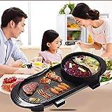 Raclette Grill, tragbarer Elektrogrill, Multifunktions-Elektroherd mit großer Haushaltskapazität und Antihaftbeschichtung mit Temperatureinstellung 1700 W