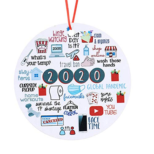 OJJ Christmas Ornament 2020 Decorations 2020 Year to ForgetChristmas Ornament 2020 Santa Claus Ornaments Christmas Ornament Peace & Happiness Decorations (Style - 2)