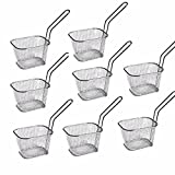 8pcs Mini Square Fry Basket Present Fried Food, Table Serving Mini Chip Baskets Mini Fryer Serving...