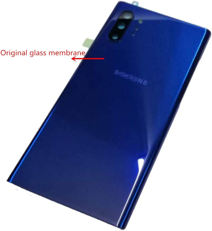BSDTECH Galaxy Note 10 Plus Back Glass Cover Housing Door with Tape Parts Replacement for Samsung Galaxy Note10+ Note10 Plus 5G (Blue)