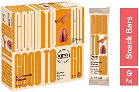 GOODTO GO Soft Baked Bars Cinnamon Pecan 9 Pack Gluten Free Keto Certified Paleo Friendly Low product image