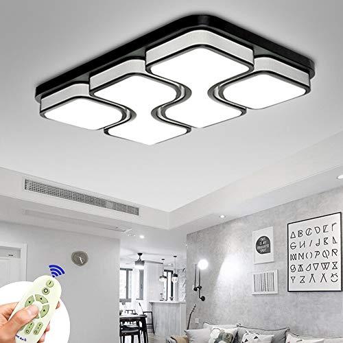 MIWOOHO 78W LED Deckenleuchte Dimmbar Deckenlampe Modern Design Schlafzimmer Küche Flur Wohnzimmer Lampe Wandleuchte Energie Sparen Licht[Energieklasse A++]