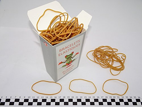Progom - Gummibänder - 80(Ø50)mm x 1.7mm - natur - Box 100 Gramm