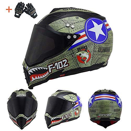 Member Unisex Pitbike DH Crash Helm Kart Go Kart BMX Offroad Beach Racing Motocross Dual Sport Motorrad MTB Leichtgewicht Casque Windproof,XL