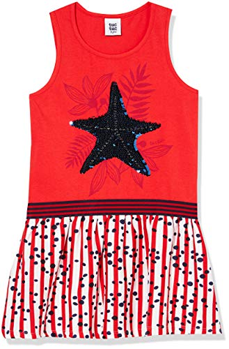 Tuc Tuc Vestido Punto Y Viscosa Combinado NIÑA Rojo Lost Ocean