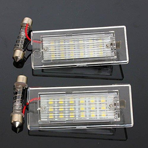 Ricoy Paire de feux de plaque d'immatriculation LED sans erreur pour X5 E53 X3 E83 03–09