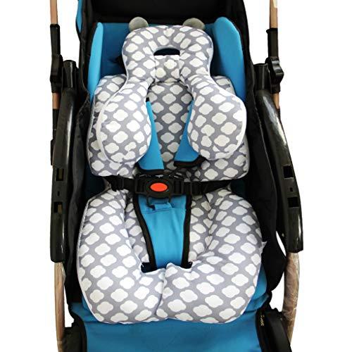 vocheer Baby-Kinderwagenkissen, Baby-Kopfstützkissen für Neugeborene, Autositzeinlage mit Nackenstütze für Babyschale und Kinderwagen, Wolke
