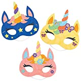 Baker Ross AT309 Einhorn-Masken, 8 Stück, zum Basteln und Basteln, für Kinder