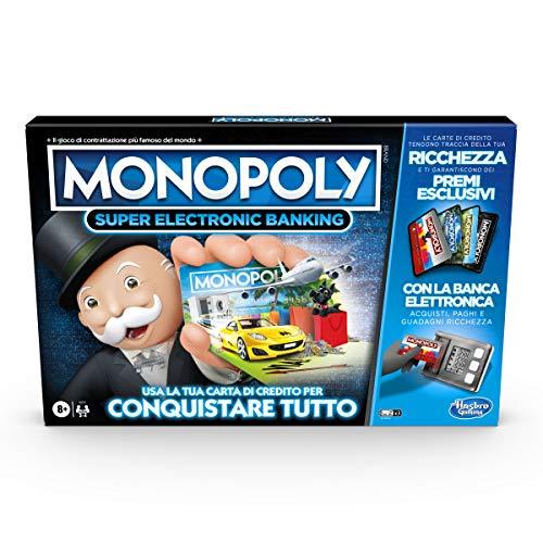 Hasbro Monopoly Super Electronic Banking (Juego en Caja con Lector electrónico Hasbro Gaming, versión en Italiano)
