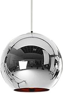 Huahan Haituo Lampa wisząca w stylu industrialnym, ze szklaną kulką, regulowana lampa z lustrem, lampa sufitowa do kuchni,...