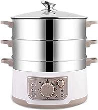 XJJZS Électrique à Vapeur ménagers Multifonctions de qualité Alimentaire en Acier Inoxydable 304 de Grande capacité Etuve ...