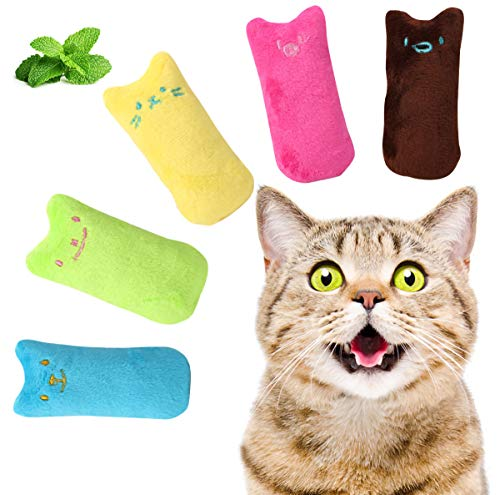 HAPIPET Cat Catnip Toys, Interactive Cat Toys, Soft Pillow for Cat Teeth Cleaning, Scratching, Playing, Chewing