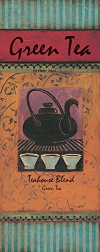 Sensación en casa STRETCHED-CANVAS-Green-Tea-Gorham-Gregory-Kitchen-Fine-Arte impreso en barras de madera, 41_X_16_in