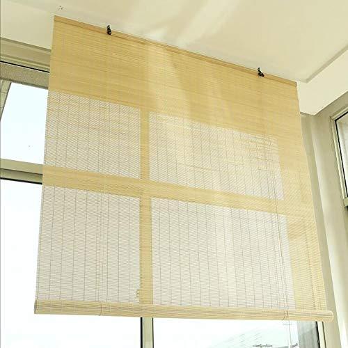 ZLI Rollos Innenfenster-Rollläden, mit Anhebenden Bambusjalousien für Balkon Wohnzimmer Schlafzimmer, 60cm/80cm/90cm/100cm/120cm/140cm Breit (Size : W 60×H 160cm)