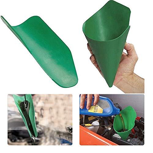 LUCKIPLUS Flexible Draining Tool Oil Funnel Flexible Free Oil Filter Funnel Extended Reusable Draining Funnel Discharging Oil from Cars, Trucks, Motorcycles (Green)