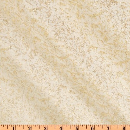 Michael Miller Fairy Frost Glitz Bling White Fabric by The Yard