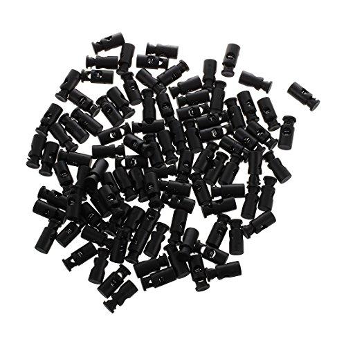 SODIAL(R) Barillet de cordon elastique noir Barrel Bascule de verrouillage du cordon