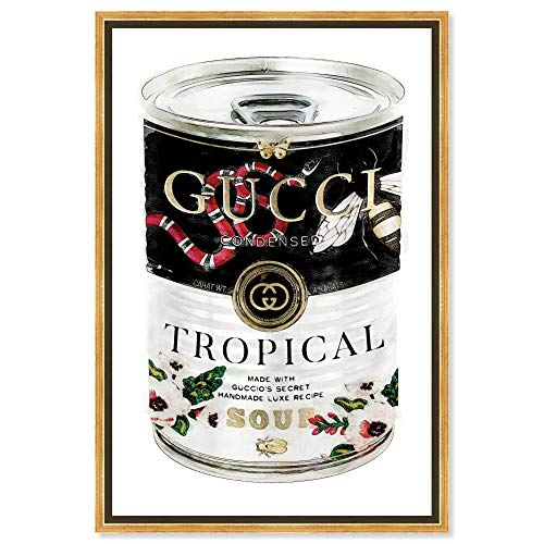 The Oliver Gal Artist Co. Fashion and Glam Framed Wall Art Canvas Prints 'Italian Luxe Soup Can Home Décor, 10' x 15'