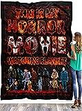 This is My Horror Movie Watching Fleece Sherpa Blanket, This is My Horror Movie Watching Blanket, Halloween Blanket, Horror Movie Blanket, Personalized Custom Name Blanket
