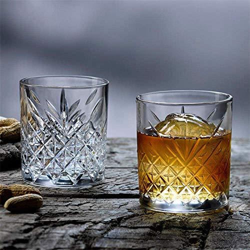 Parfait Deux sans plomb Verre Cristal verres à vin, maison Lavable en machine transparent eau Lunettes, sécurité, dommages-résistant et résistant à la chaleur, Convient for Whiskey (Taille: 450 ml) FD