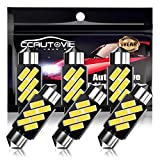 CCAUTOVIE Bombilla LED Festoon Canbus sin errores C5W LED Festoon de 36 mm para interior de coche, domo, mapa, puerta de cortesía, luces de matrícula (36mm 6pcs)