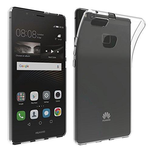 LONVIPI, Cover Huawei P9 LITE Custodia Trasparente ANTIURTO Sottile Anti Scivolo In Silicone Flessibile Gel Gomma TPU MORBIDA Slim Protettiva HD Bumper