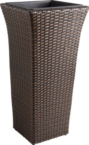 Vase en rotin synthétique et aluminium JVA1332
