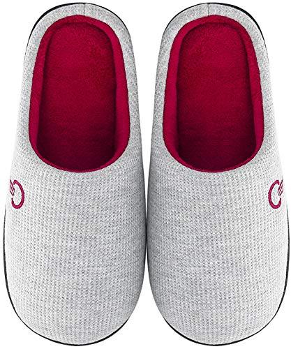 Mishansha Zapatillas de Estar en Casa Hombre Mujer, Zapatillas Casa Memory Foam para Invierno Otoño, Cómodas/Blanditas/Mulliditas y Calientes(Grey, 38/39 EU)