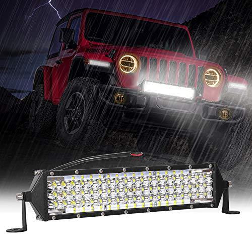 Zmoon LED Light Bar 12 Inch 264w 26400Lm LED Work Light Spot Flood Combo Led Bar Off-Road Lights Driving Lights Led Fog Light Jeep Lights Boat Lighting