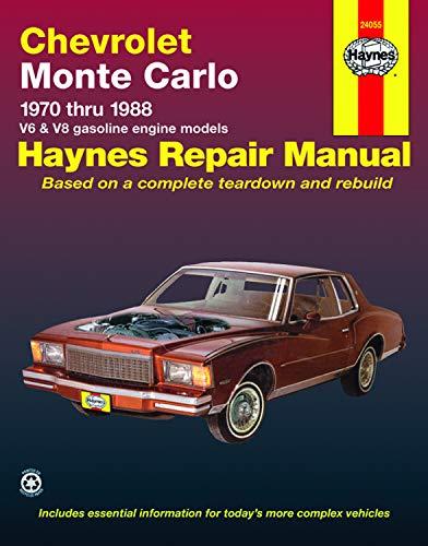 Chevrolet Monte Carlo 1970 Thru 1988