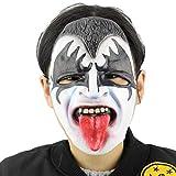 Rcsinway Tocados de Halloween de Halloween Vestido de la casa encantada hasta Christmas Room Escape de la máscara del Fantasma de Terror Tricky (Color : Black and White)