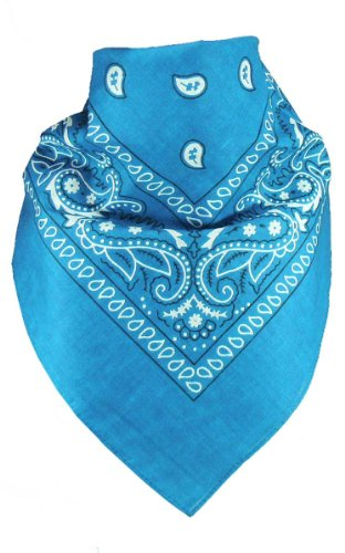 Harrys-Collection Unisex Bandana Bindetuch 100% Baumwolle (1 er 6 er oder 12 er Pack), Farbe:türkis