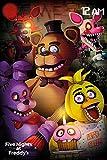 Close Up Póster Five Night's at Freddy'S - Let's Eat!!! [Personajes] (61cm x 91,5cm) + 1 póster Sorpresa de Regalo