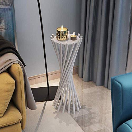 MK Good Salontafel, tv, staande lamp, telefoon, tafel, bank, bijzettafel, eikentafel, klein, modern, metaal, bijzettafel, ijzeren kunst, voor binnen en buiten, zwart wit