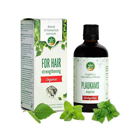 Bio Haaröl der Naturkosmetik - 100{f8df20236beb056e26ee77f2387472e14d43327361f443712034df6ce6ff18b7} reines Öl für sehr geschädigte Haare - natürliche Harpflege um Haarwachstum zu fördern - wirkt gegen Haarausfall für Damen & Herren - vegan, zertifiziert