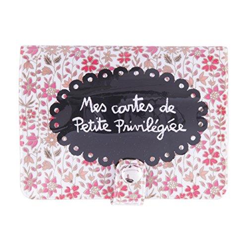 """DLP Porta-tessere Folk """"Privilégiée"""", scritta in francese"""
