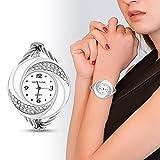 Reloj analógico de cuarzo para mujer con estrás y brazalet