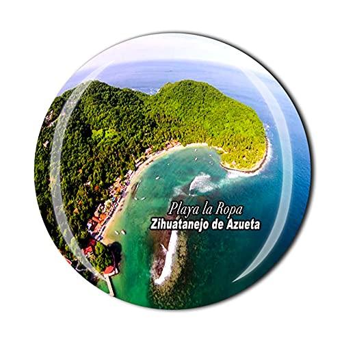 Playa la Ropa Zihuatanejo de Azueta Mexico Fridge Magnet Souvenir Crystal Magnetic Sticker