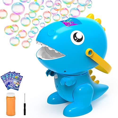 balnore Seifenblasenmaschine Tragbare Bubble Machine für Kinder Automatischer Seifenblasen Spielzeug für Geburtstag Party Garten Outdoor (Blau)