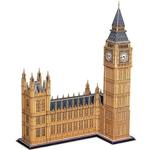 SKAJOWID 3D Puzzle London Big Ben Architecture Model Building Kit Casa del Parlamento del Reino Unido, Decoración, Regalo De Juguete Y Recuerdo, Notre Dame De Paris, (117 Piezas)