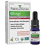 Forces of Nature - Natural Organic Allergy Maximum Strength Medicine (10ml) Non Drowsy, Non Addictive, Non GMO -Fight Indoor, Outdoor Allergies, Sneezing, Runny Nose, Itchy Eyes, Throat and Nose