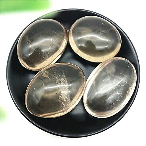 Chakra Stone. 1PC Cristallo di Quarzo fumé Naturale Terapia di Massaggio con la Palma Pietra lucidata Regali di guarigione Pietre Naturali e minerali (Size : 70-90 Grams)