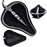 Bike Seat Cover Padded | Thick Silicone Gel Bicycle Saddle Cushion | Breathable