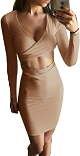 Memorose Womens Sexy Long Sleeve Cut-Out Bandage Bodycon...